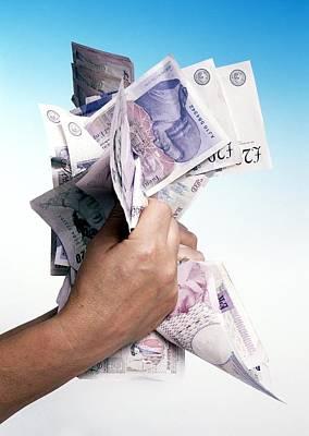 Money Poster by Victor De Schwanberg
