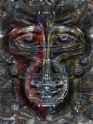 Monkey Tech Poster by Russell Pierce