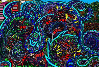 Monster Wave Poster by Karen Elzinga