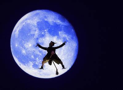Moon Splat Poster by Steve Ohlsen