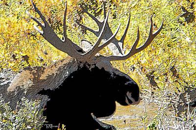 Moose Poster by Rick Thiemke