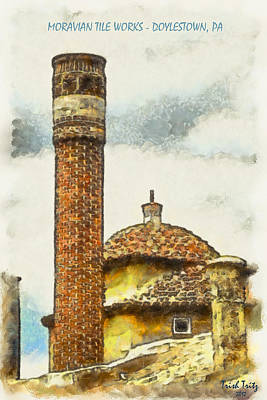 Moravian Tile Works Poster by Trish Tritz