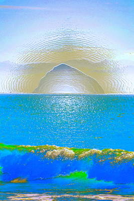 Morro Rock 3 Poster by Pamela Cooper