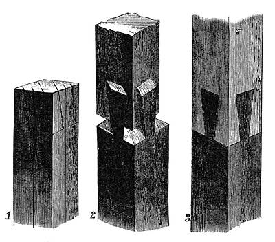 Mortise And Tenon Joint, 19th Century Poster by