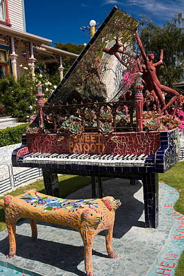Mosaic Piano Sculpture Poster by Sally Weigand