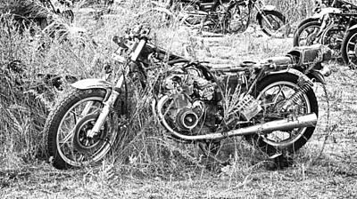 Motorcycle Graveyard Poster by Douglas Barnard