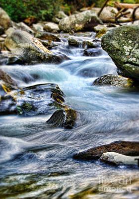 Mountain Stream Poster by Jill Battaglia