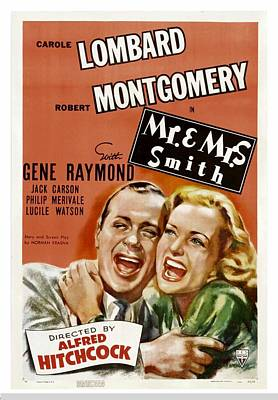 Mr. And Mrs. Smith, Robert Montgomery Poster by Everett