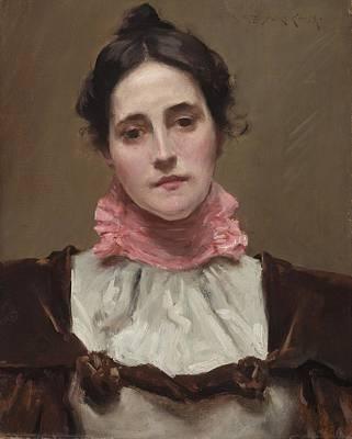 Mrs. William Merritt Chase Poster by William Merritt Chase