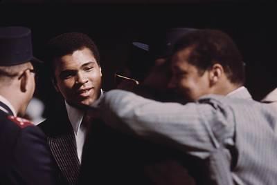 Muhammad Ali Talks With Fellow Black Poster by Everett