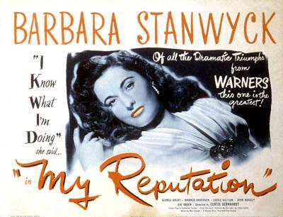 My Reputation, Barbara Stanwyck, 1946 Poster by Everett