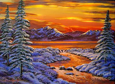 Mystic Winter Poster by David Lloyd Glover