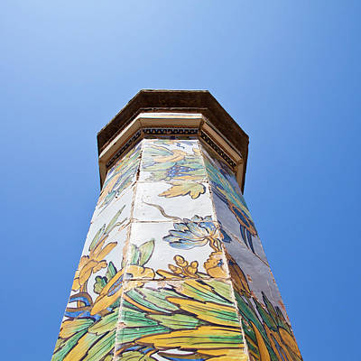 Napoli - Column In The Sky Poster by Paolo Modena
