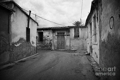 narrow run down city streets in northern nicosia TRNC turkish republic of northern cyprus Poster by Joe Fox
