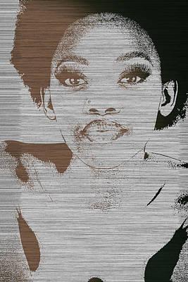 Natasha Brown Poster by Naxart Studio