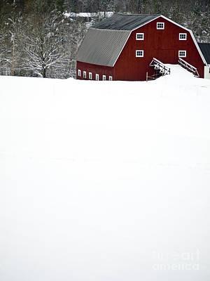 New England Winter Poster by Edward Fielding