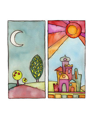 Night And Day Poster by Susie Lubell