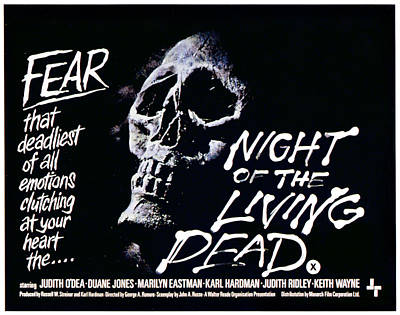 Night Of The Living Dead, 1968 Poster by Everett