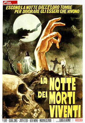 Night Of The Living Dead, Aka La Notte Poster by Everett