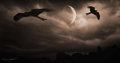 Nightly Flight Poster by Lourry Legarde