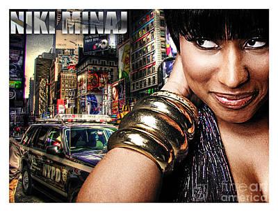 Niki Minaj Poster by The DigArtisT