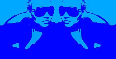 Niki Mirror Blue Poster by Naxart Studio
