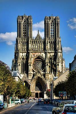 Notre-dame De Reims Poster by Joerg Lingnau