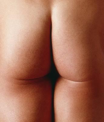 Nude Man's Buttocks Poster by Cristina Pedrazzini