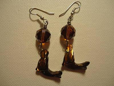 Nude Mermaid Earrings Poster by Jenna Green