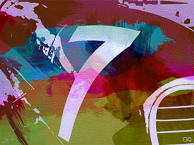 Number 7 Poster by Naxart Studio