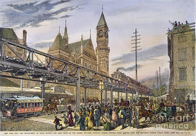 Nyc Elevated Train, 1878 Poster by Granger