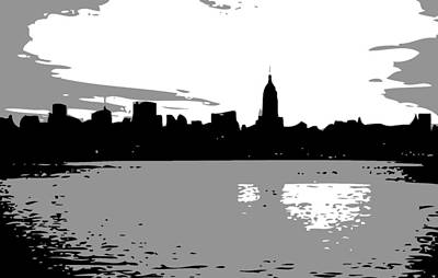 Nyc Morning Bw3 Poster by Scott Kelley