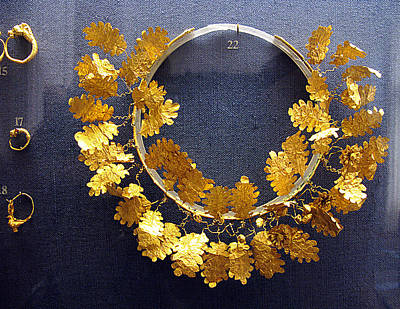 Oak Leaves Wreath Poster by Andonis Katanos