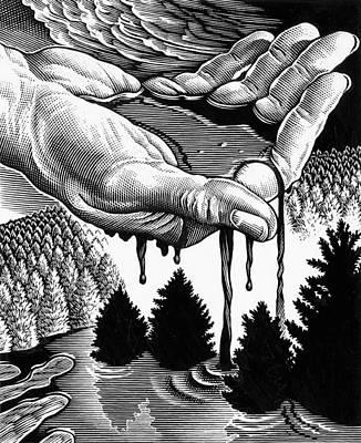 Oil Pollution Poster by Bill Sanderson