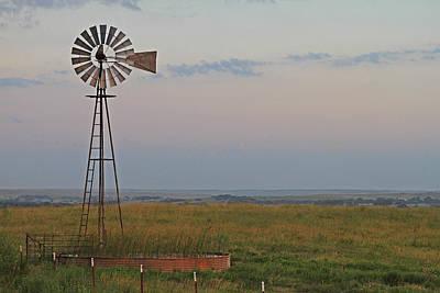 Oklahoma Windmill Poster by Tony Grider