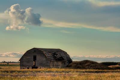 Old Barn In A Field Poster by Matt Dobson