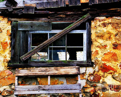 Old Barn Window 2 Poster by Perry Webster
