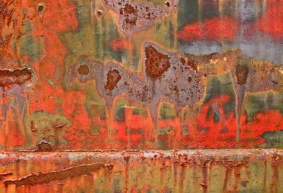 Old Car Abstract 1 Poster by Tom and Pat Cory