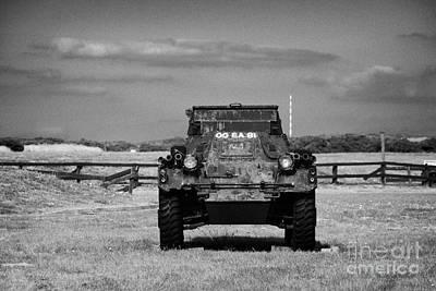 old rusting british army ferret armoured scout car Scotland uk united kingdom Poster by Joe Fox
