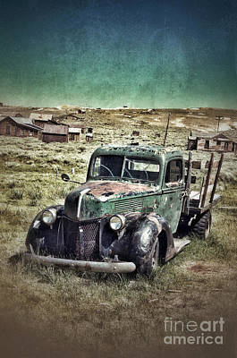 Old Rusty Truck Poster by Jill Battaglia