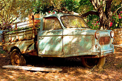 Old Rusty Truck Poster by Tom Gowanlock