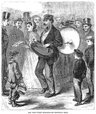 One-man Band, 1867 Poster by Granger