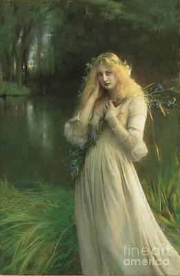 Ophelia Poster by Pascal Adolphe Jean Dagnan Bouveret