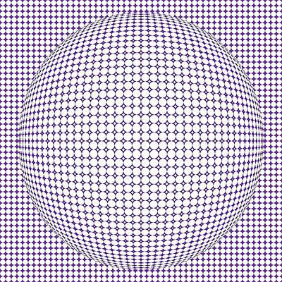 Optical Illusion Purple Ball Poster by Sumit Mehndiratta