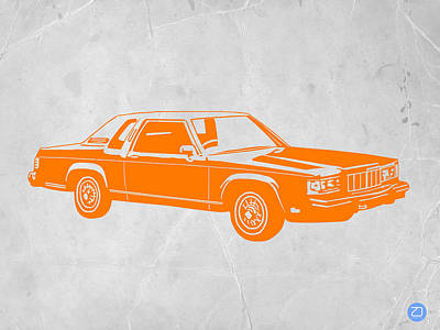Orange Car Poster by Naxart Studio