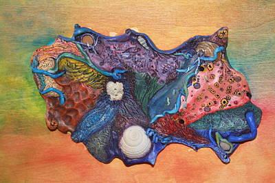 Organic Ocean Poster by Megan Nelson
