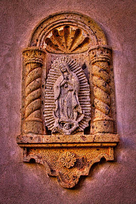 Our Lady Of Guadalupe At The Chapel In Tlaquepaque  Poster by David Patterson