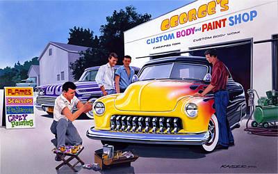 Paint Shop Poster by Bruce Kaiser