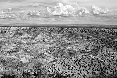 Painted Desert In B And W Poster by Melany Sarafis
