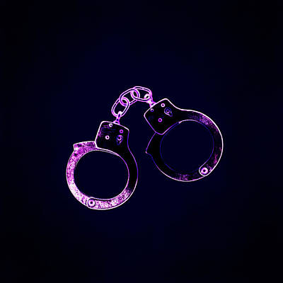 Pair Of Handcuffs Poster by Kevin Curtis